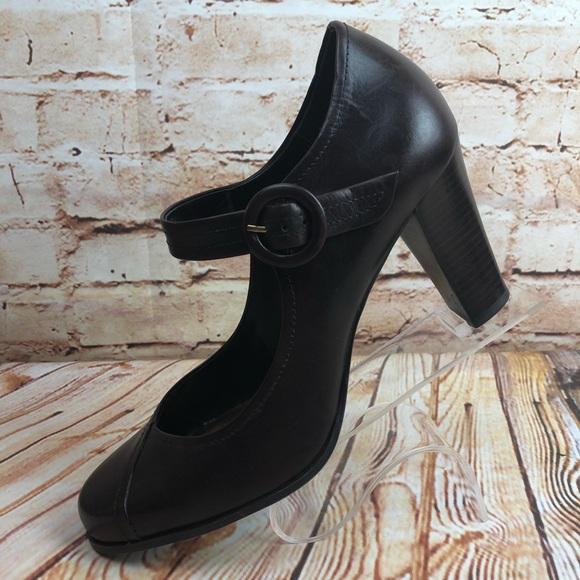 5fb75082c42 Franco Sarto Florian Leather Mary Jane Heels Pumps